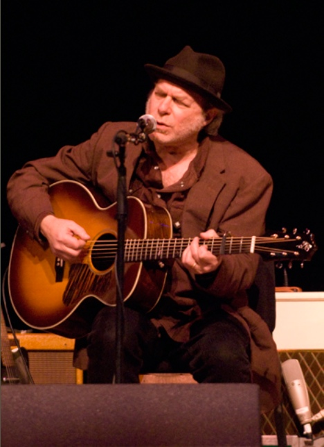 Buddy Miller with his Borges Custom Baritone Guitar