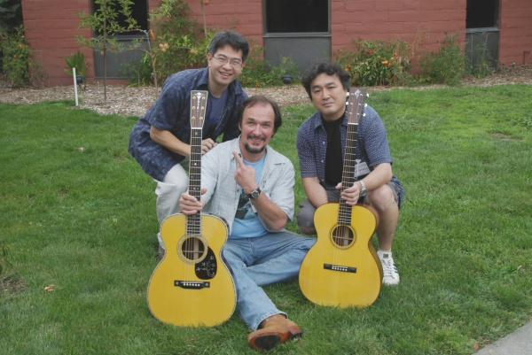 Takeshi Hayakawa, Julius Borges, and Shimasue-san in Healdsburg, August 2005