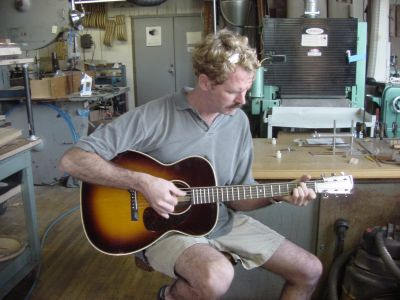 Frank Corso playing the Mini-Harp Guitar